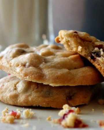Need a cookie fix? Our best cookie recipe features dried cranberries & crunch almonds. Greek yogurt baking chips make the cookies chewy and amazing.