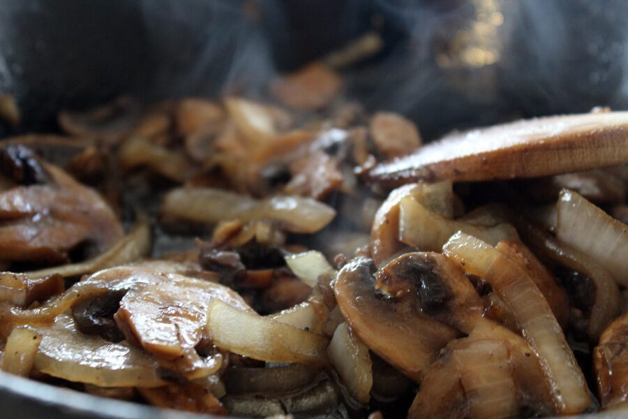 Ever notice how Steakhouse Mushrooms and Onions you get in a restaurant taste amazing? I think we have figured out the secret!