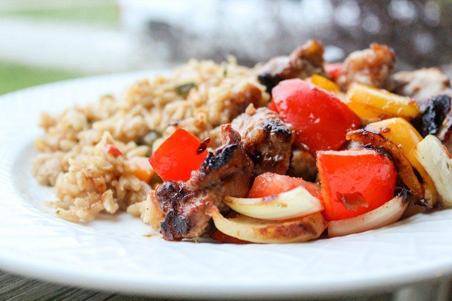 Hawaiian Grilled Pork Kabobs