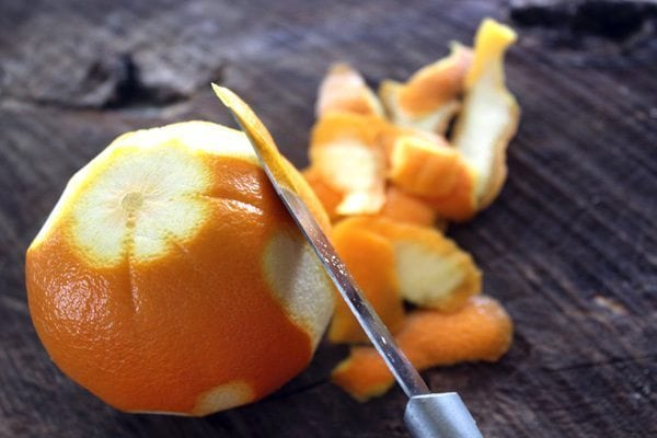 Candied Sugar Orange Peel is a delicious treat that can be eaten alone, dipped in chocolate, or used as a garnish! Plus, only three ingredients. Easy!