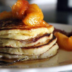 Peach Buttermilk Pancakes