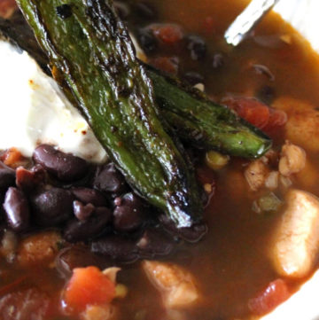 Southwestern Black Bean Soup with Roasted Jalapenos | Buy This Cook That
