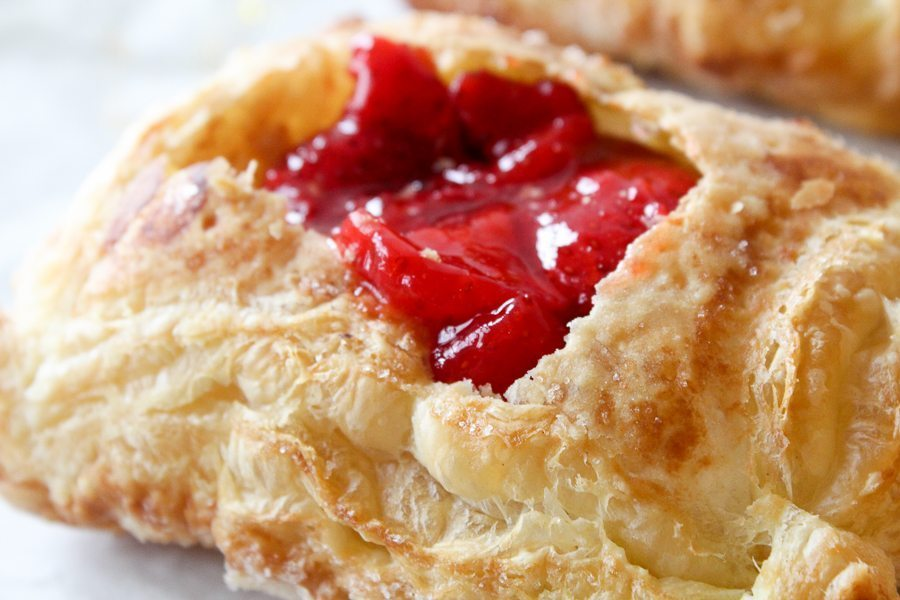 This has been one of our favorite desserts to make. These Fresh Strawberry Tarts are made with quality store-bought puff pastry and ripe and sweet strawberries.