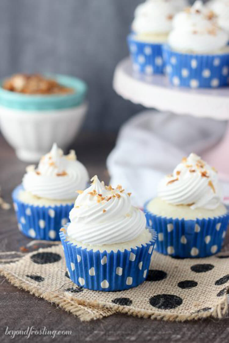 Skinny Coconut Cupcakes