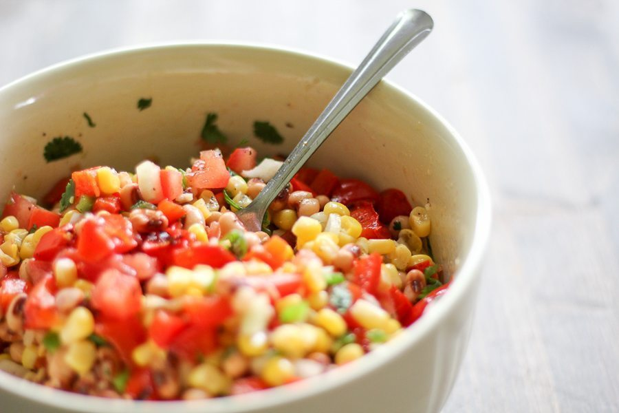Black Eyed Pea is healthy recipe big on flavor.