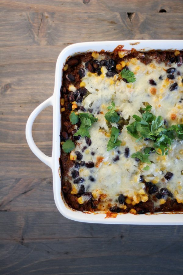 Is it the big bold flavors? The passionate use of cheese? The bright and colorful ingredients? Salsa Chorizo Casserole captures all of these things I love.