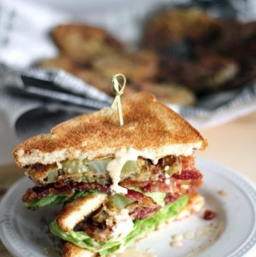 Fried Green Tomato BLT Sandwich. This gal has died and gone to heaven. Where they serve these sandwiches.