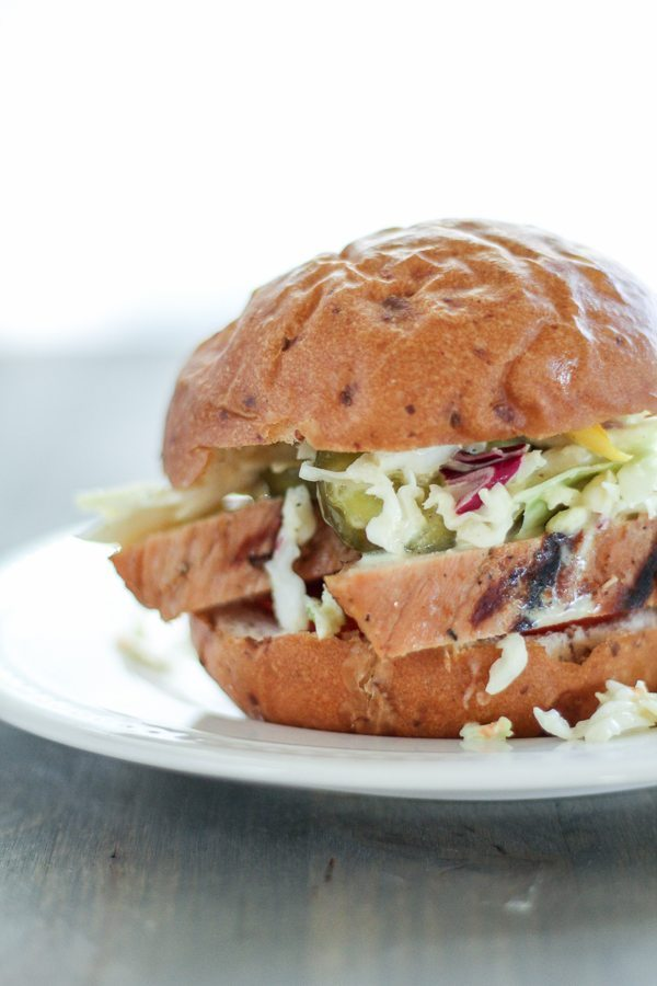Grilled Pork Tenderloin Sandwiches are great. This fast, easy recipe uses fresh marinated pork. Perfect for any night of the week! #shop #RealFlavorRealFast