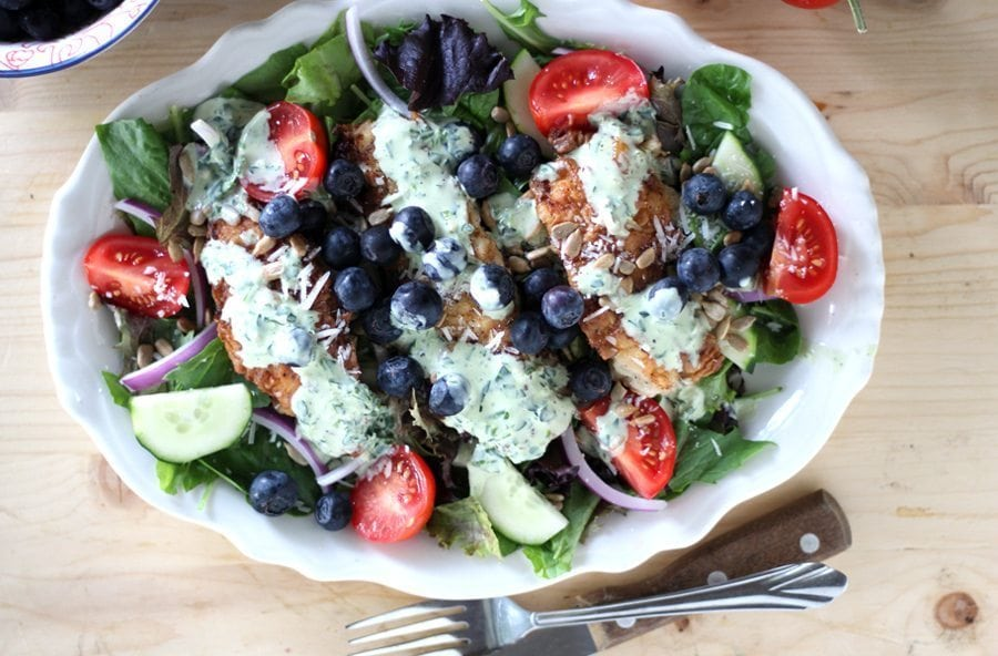 Blueberry Fried Chicken Salad Buy This Cook That
