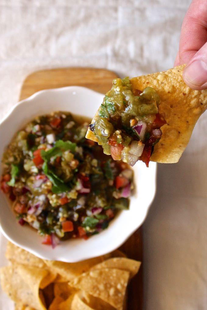 Chunky Roasted Tomatillo Salsa | 21 Best Salsa Recipes