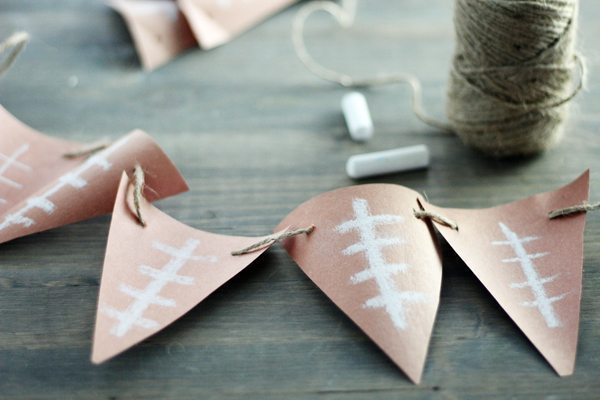 Make this easy and almost FREE Football Party Banner Craft with items you already have.