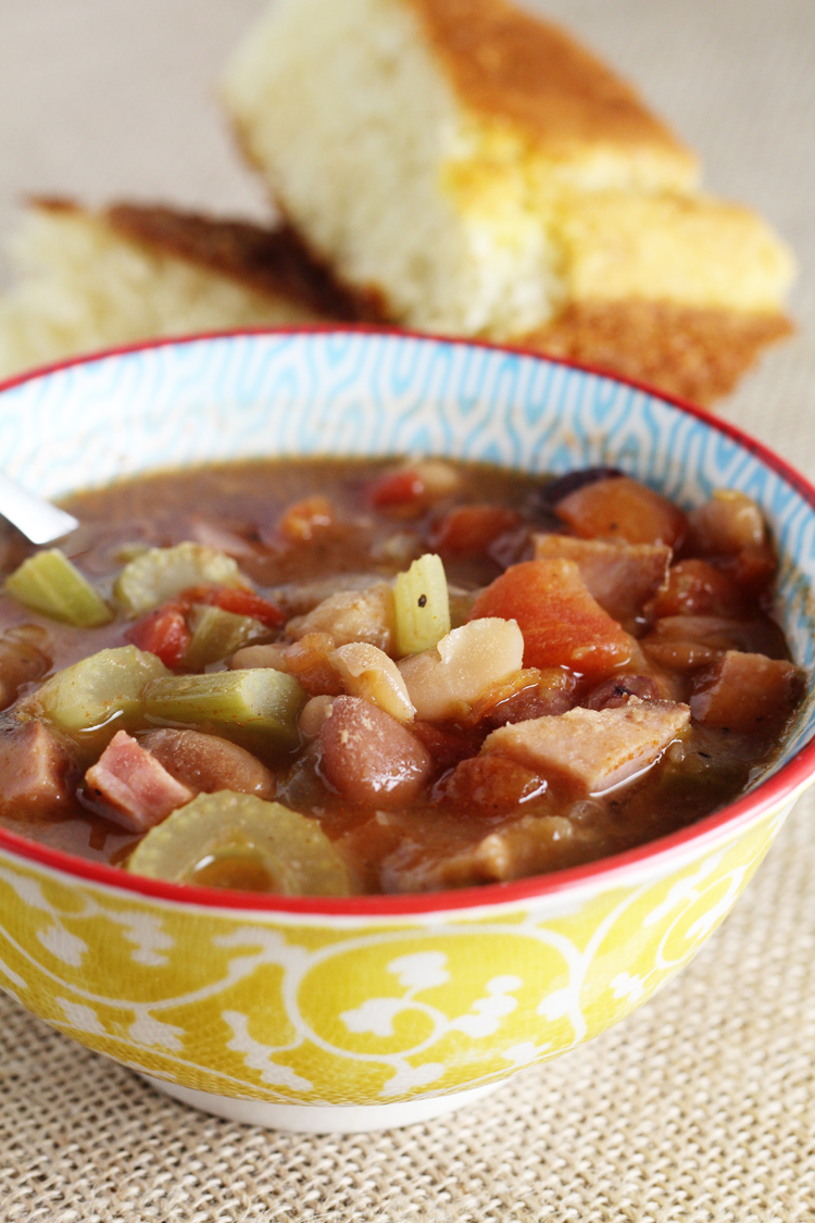 Comforting. Classic. Simple and Savory. This is the best ever Ham and Bean Soup.