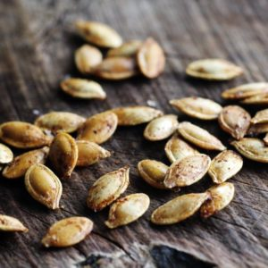Simple and seasonal, you will love Sugar + Spice Roasted Pumpkin Seeds