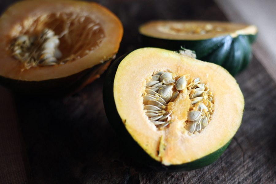 Sliced acorn winter squash