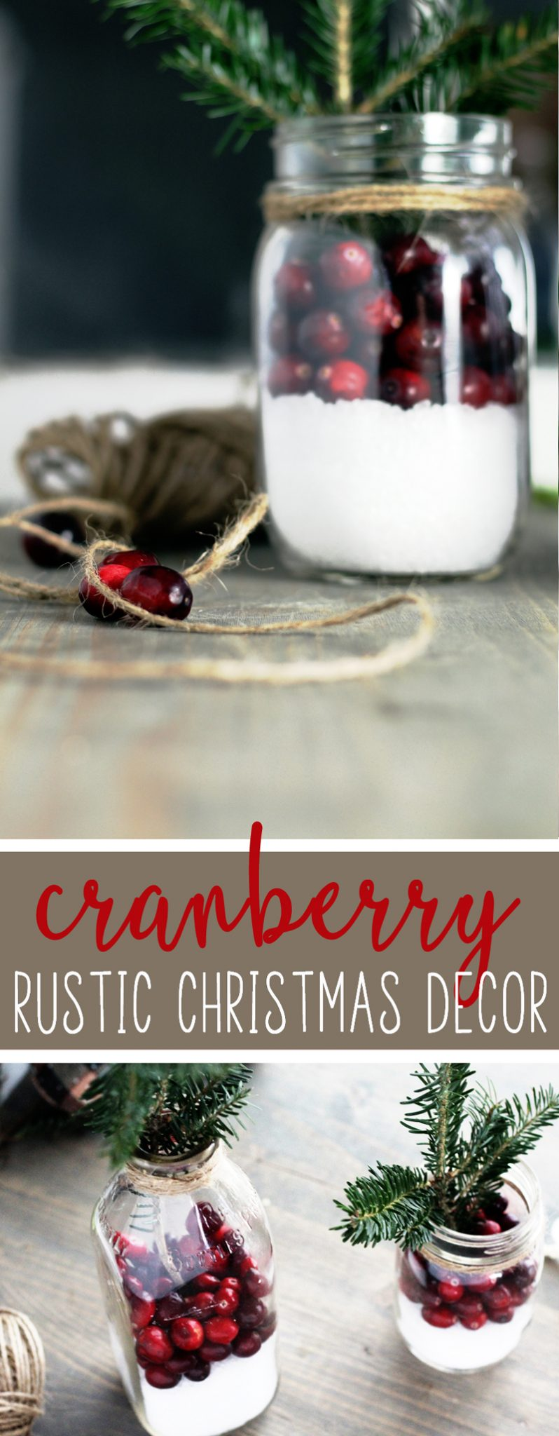 Making rustic Christmas decor is fast and easy, and this idea is inexpensive.