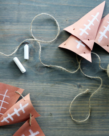 In just a few minutes you can put together this football banner for your next party.