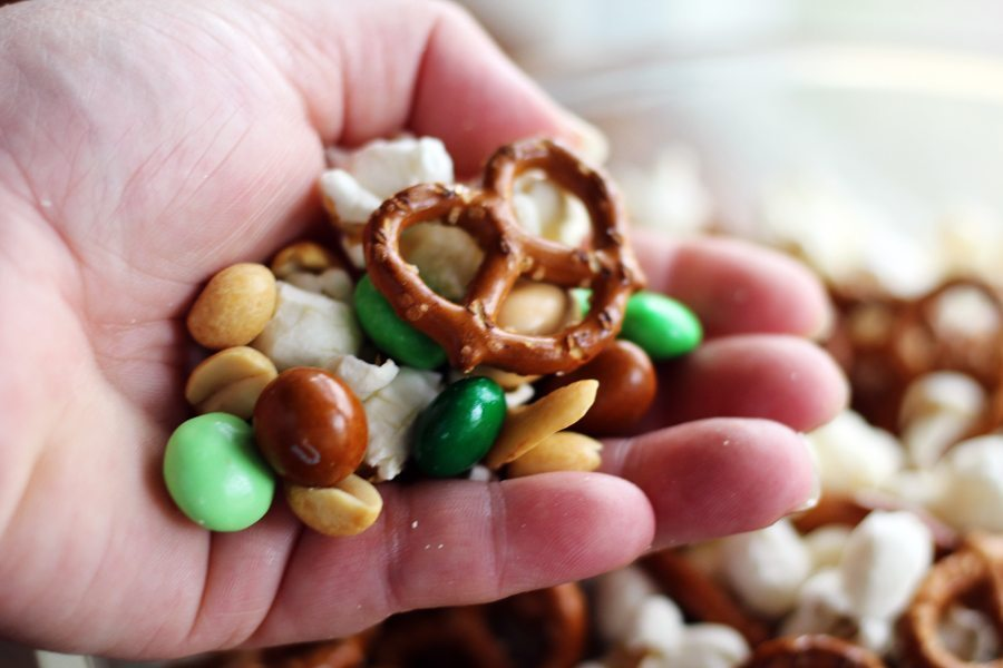 Grab your party mix by the cup, the bowl, or the handful.