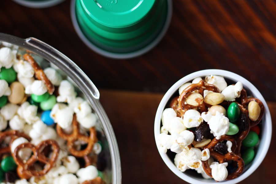 Sweet + salty, cruncy + munchy. Does a party mix get any better than this?