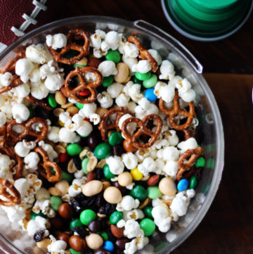 Get your gameday face on, it is football time. Gridiron Gameday Party Mix Recipe