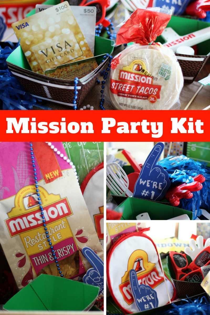 Enter for your chance to win a Mission Party Kit full of gameday fun, decor and $150!