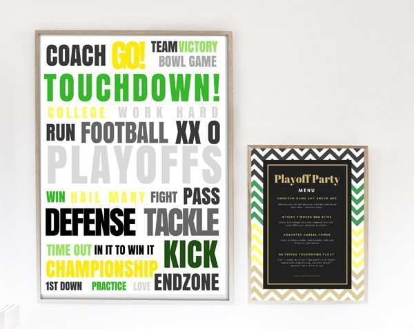 Playoff Party FREE Printables