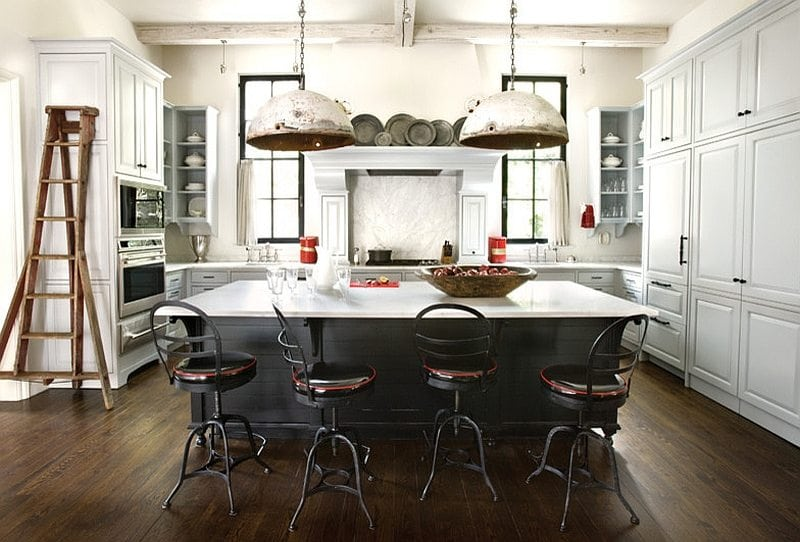 Industrial black and white mix from Decoist, Kitchen Islands.
