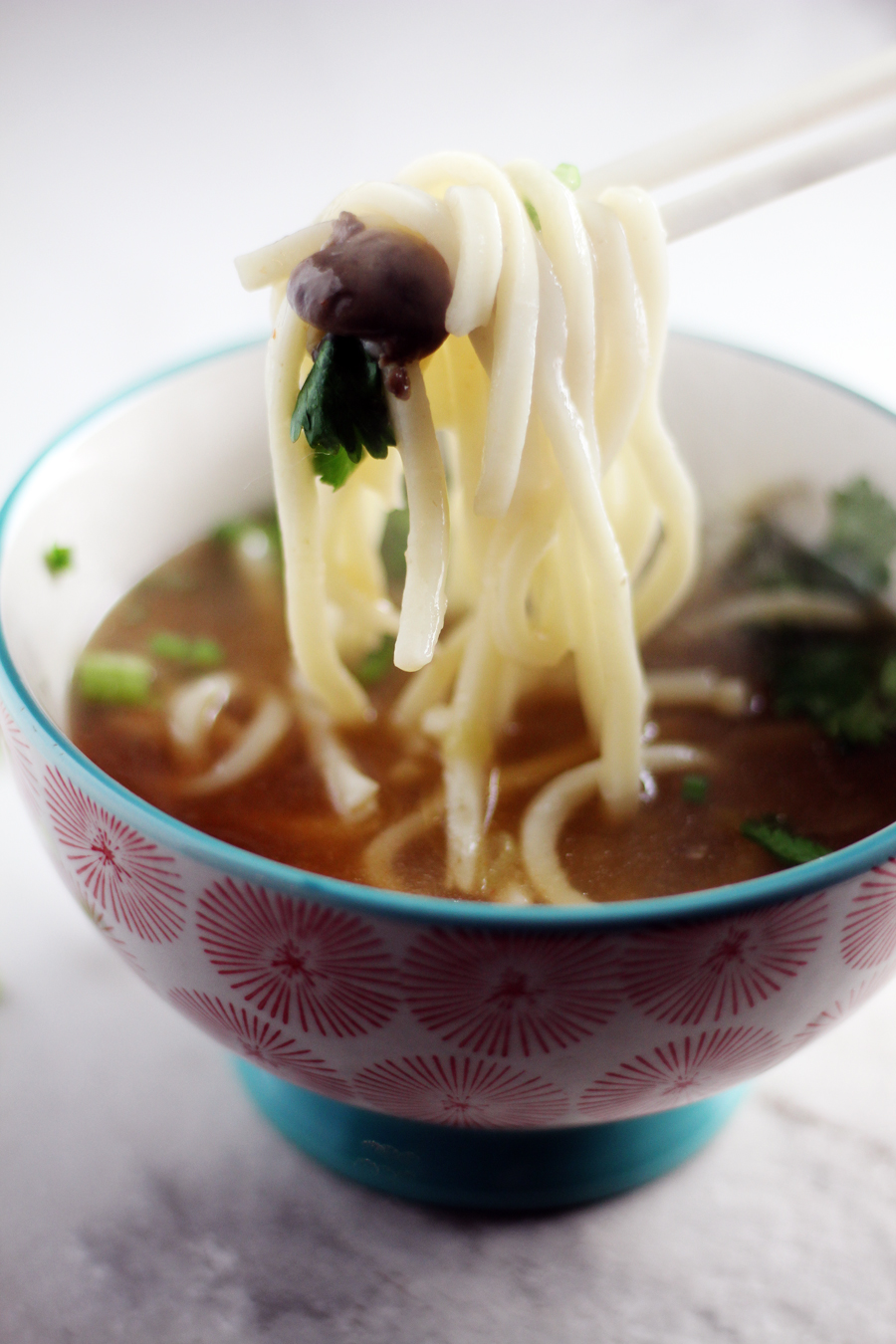 The easiest ginger soup ever. Better than your favorite restaurant, and the udon noodles...wow. Love.