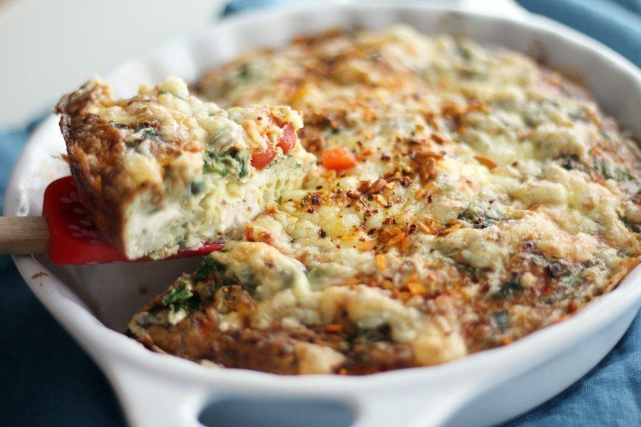 One of my favorite breakfast recipes: Farmer's Baked Omelette.