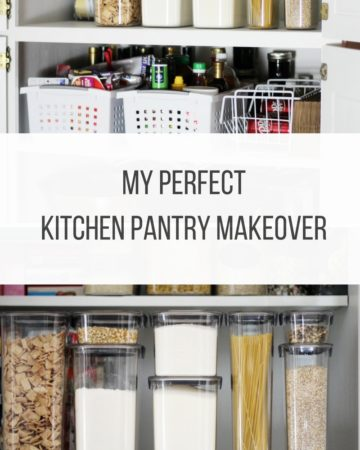 Everyone's kitchen pantry is different. To makeover mine, I identified 4 specific problems and found budget conscious solutions. My Perfect Kitchen Pantry Makeover.