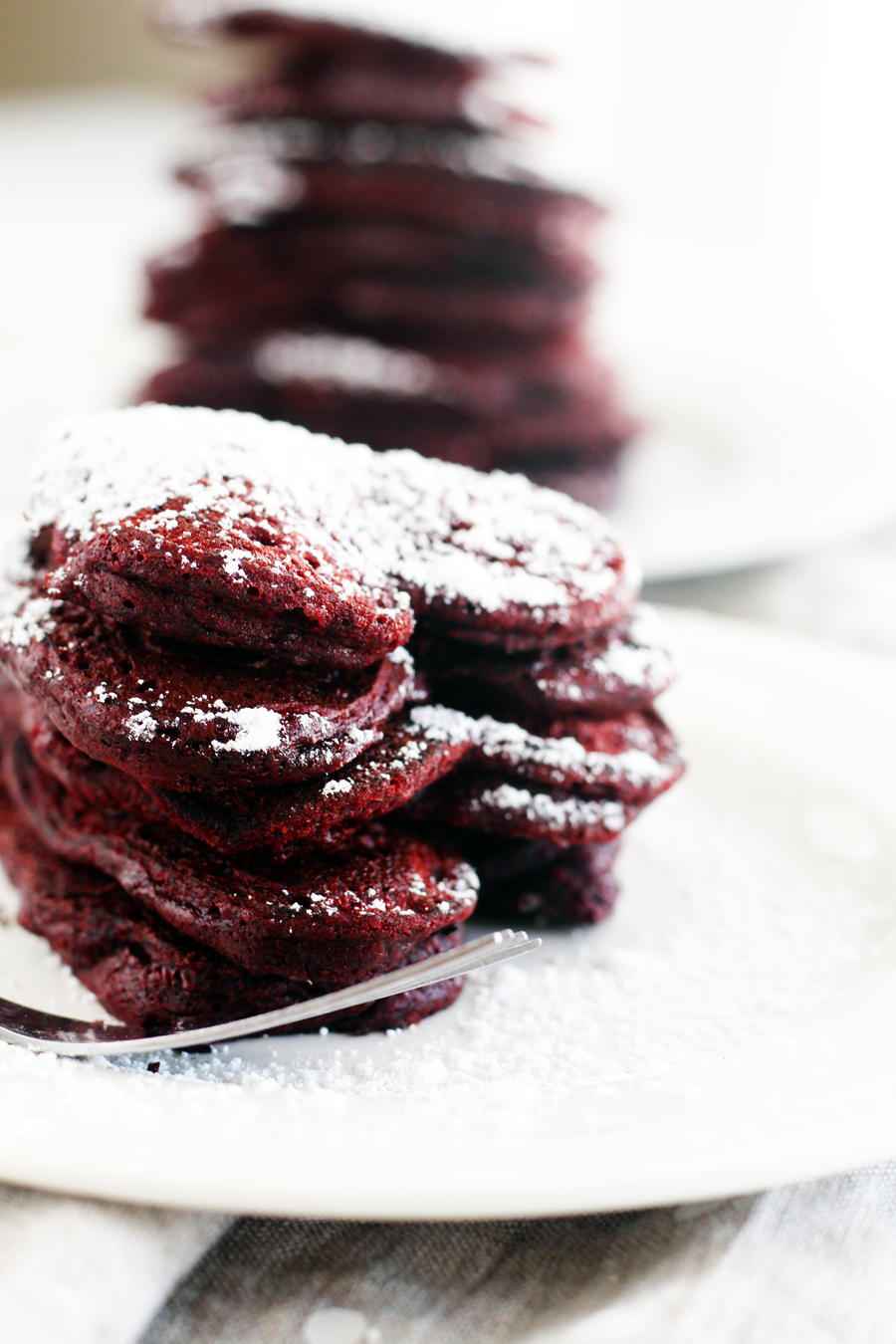 Go ahead, mom. Show off this Valentine's Day with these heart shaped red velvet pancakes.