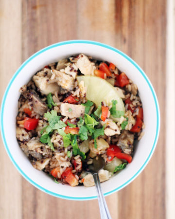 Fast and flavorful meal idea that you will love. Sweet + Sour Hawaiian Rice + Quinoa Bowls.