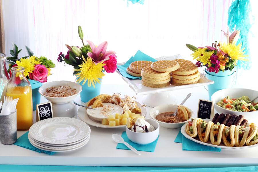 Waffle Bar Birthday Brunch Party
