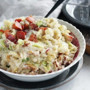 Fold the potatoes, cabbage,, bacon and onion together for a wonderful Irish Colcannon.