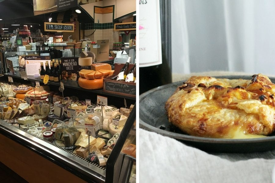 The cheese counter at The Fresh Market - Take + Bake Brie