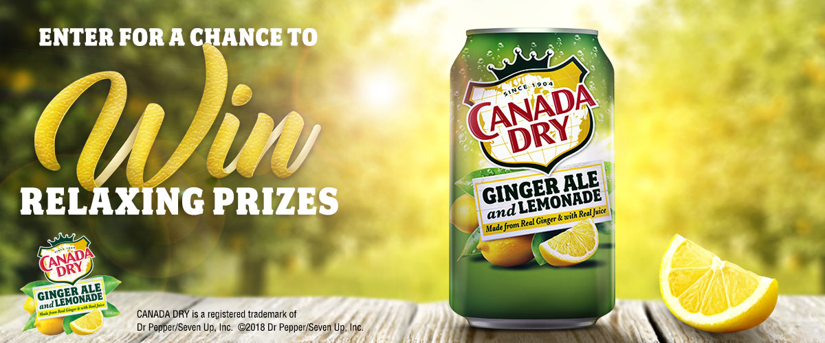 Canada Dry Ginger Ale and Lemonade promotional image