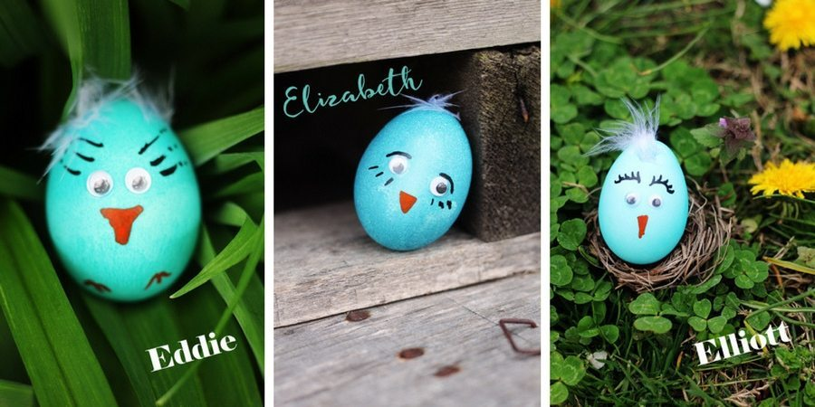 Blue Bird Easter Egg Chicks - Eddie Elizabeth Elliott