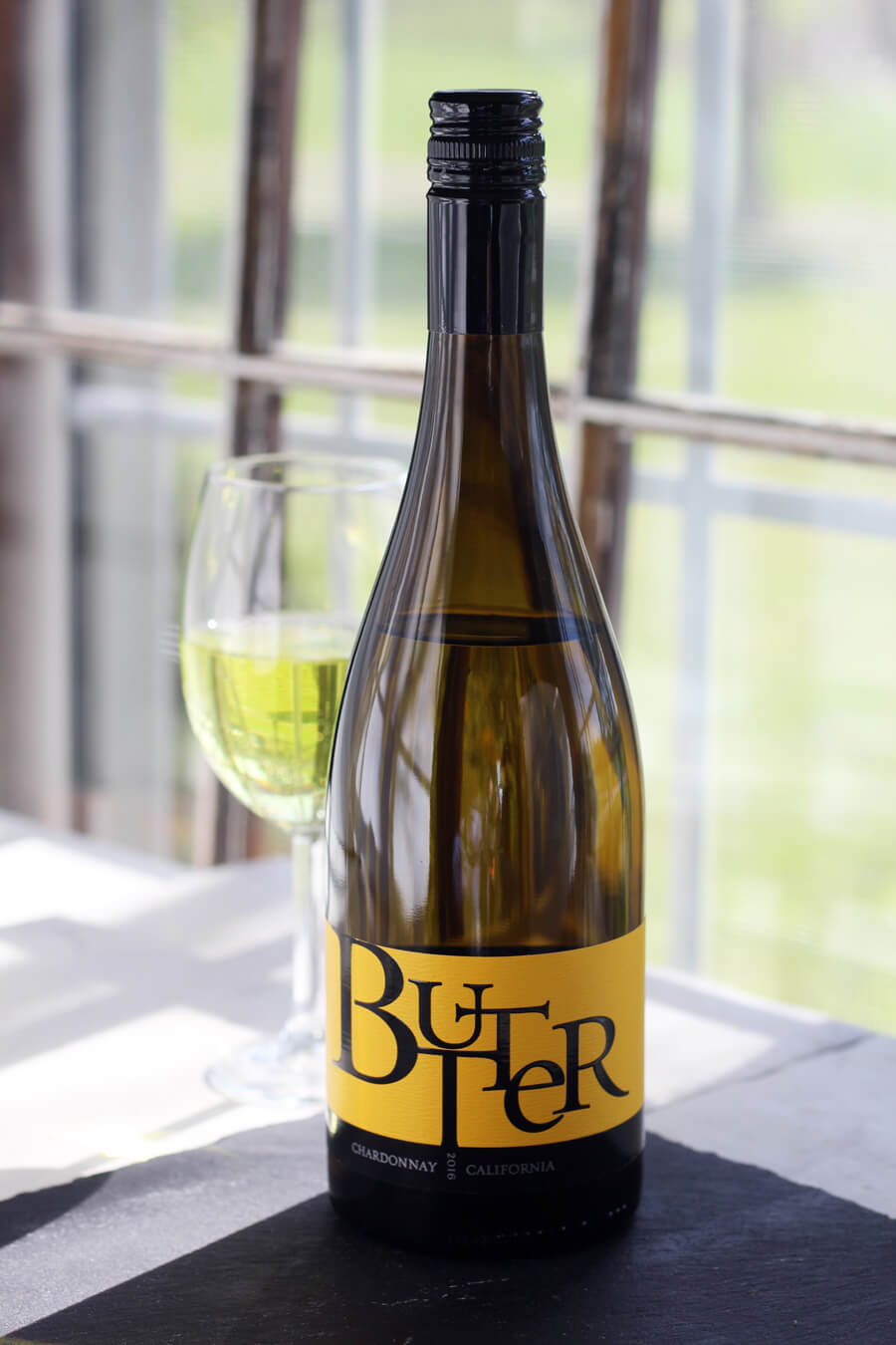 A bottle of Butter Chardonnay from JaM Cellars