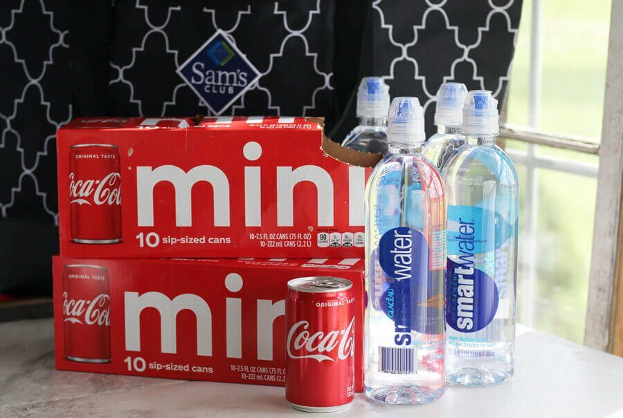 Coca Cola Mini Cans and Smart Water from Sam's Club
