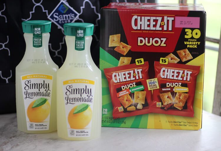 Grab all of your picnic faves from Sam's Club, including Simply Lemonade and Cheez Its.