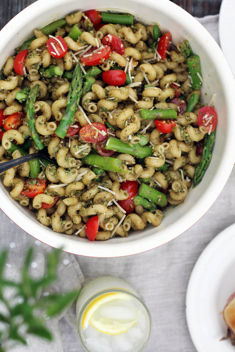 Fresh Basil Pesto Pasta Salad