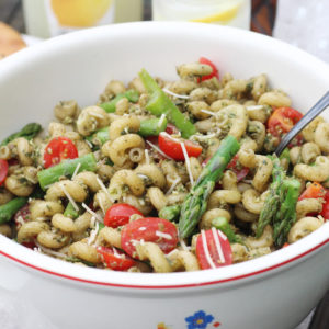 Fresh Basil Pesto Pasta Salad