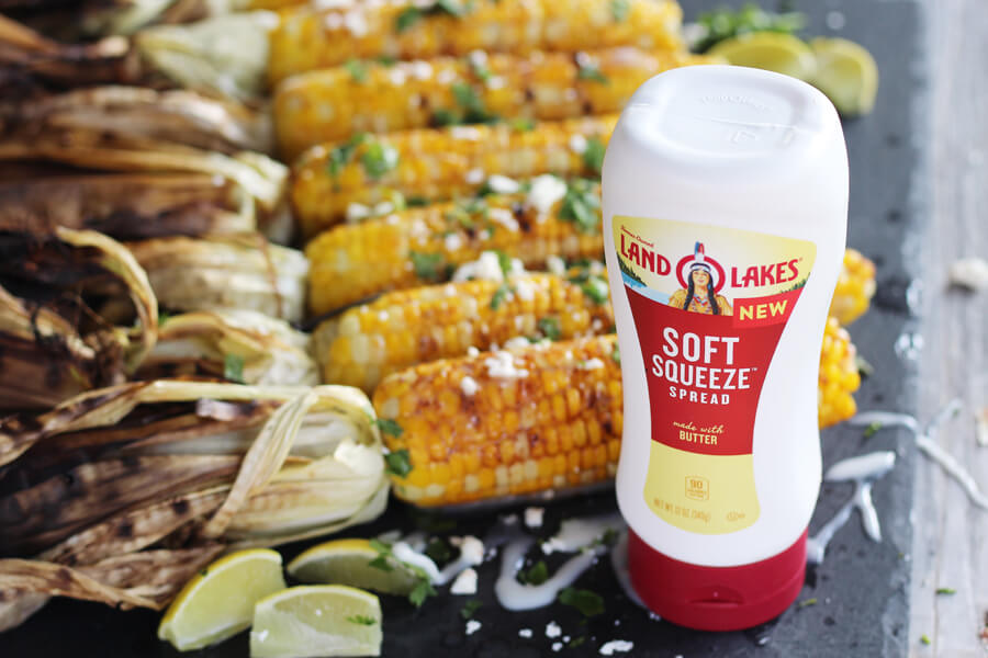 Soft Squeeze Spread from Land O Lakes with Fiesta Grilled Corn on the Cob