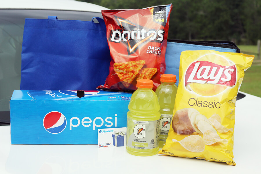 Road Trip Essentials from Albertsons - Pepsi, Doritos, Gatorade and Lays Potato Chips