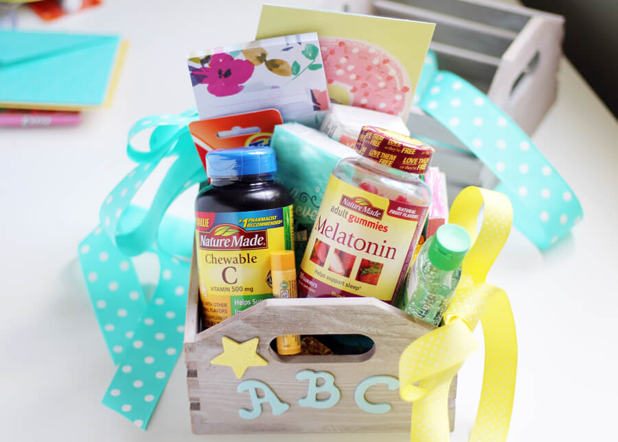 Picture of completed Back to School Teachers Gift Basket
