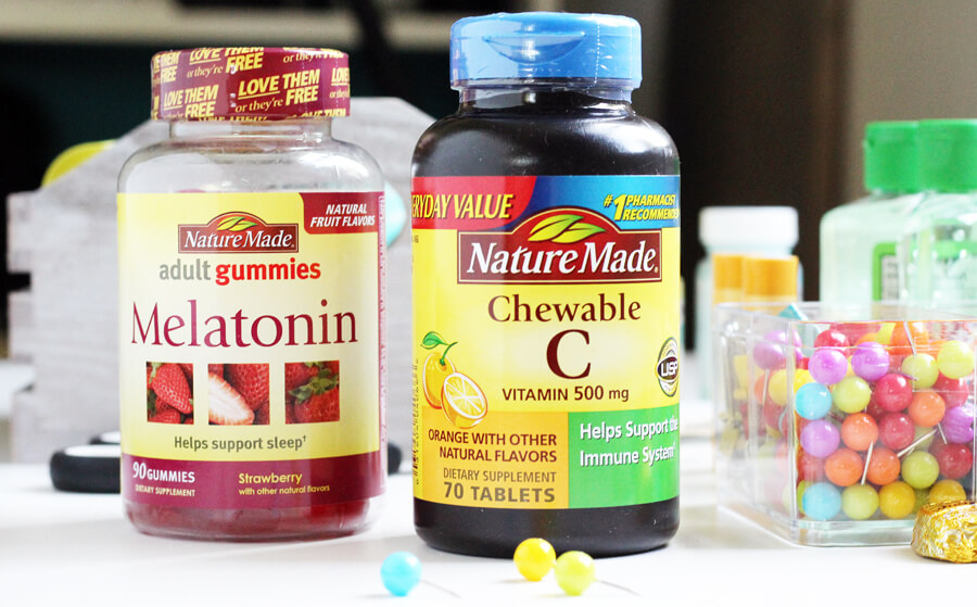 Nature Made Melatonin Gummies and Vitamin C Chewables