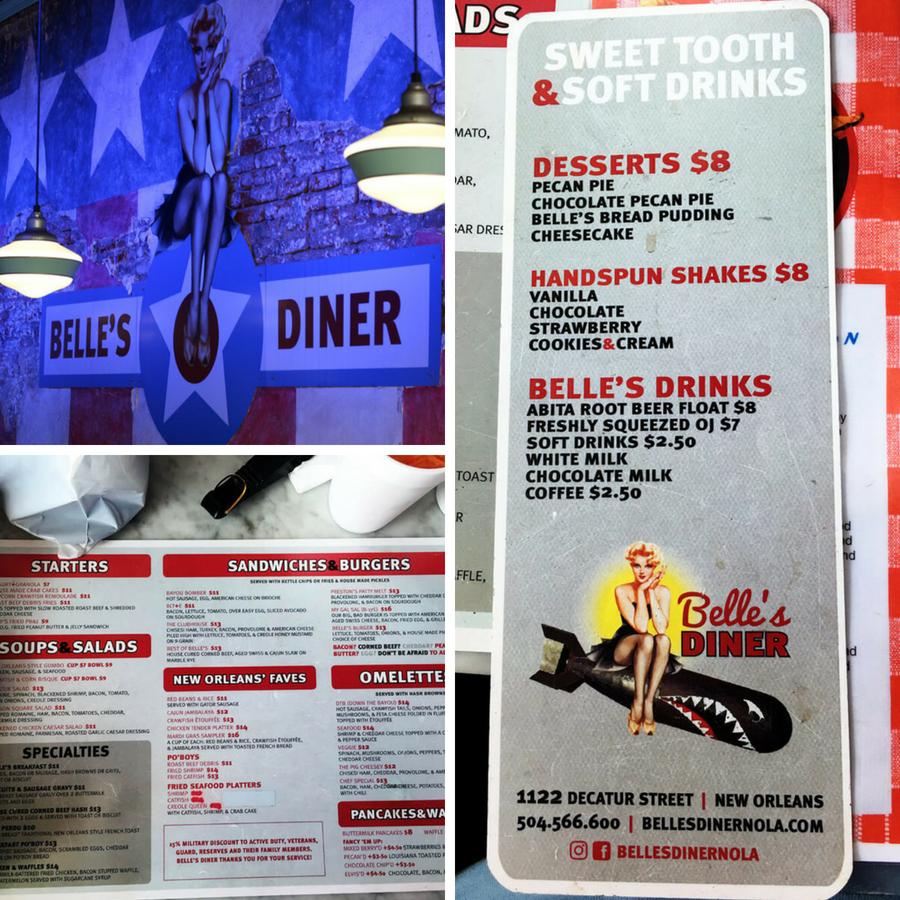Belle's Diner in New Orleans