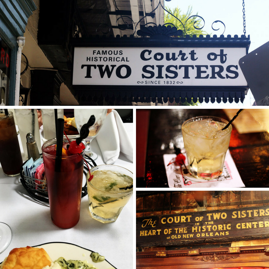 Famous Historical Court of Two Sisters - New Orleans Restaurants