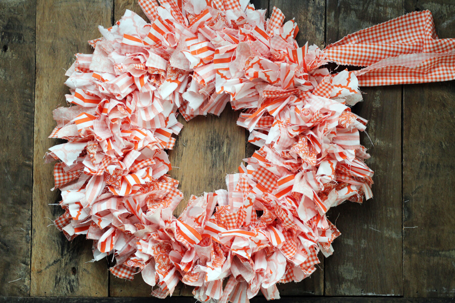 This adorable Rag Wreath is perfect for crafters of any skill level. With a few bucks and a couple of hours, you can make a homemade wreath to fit your style.