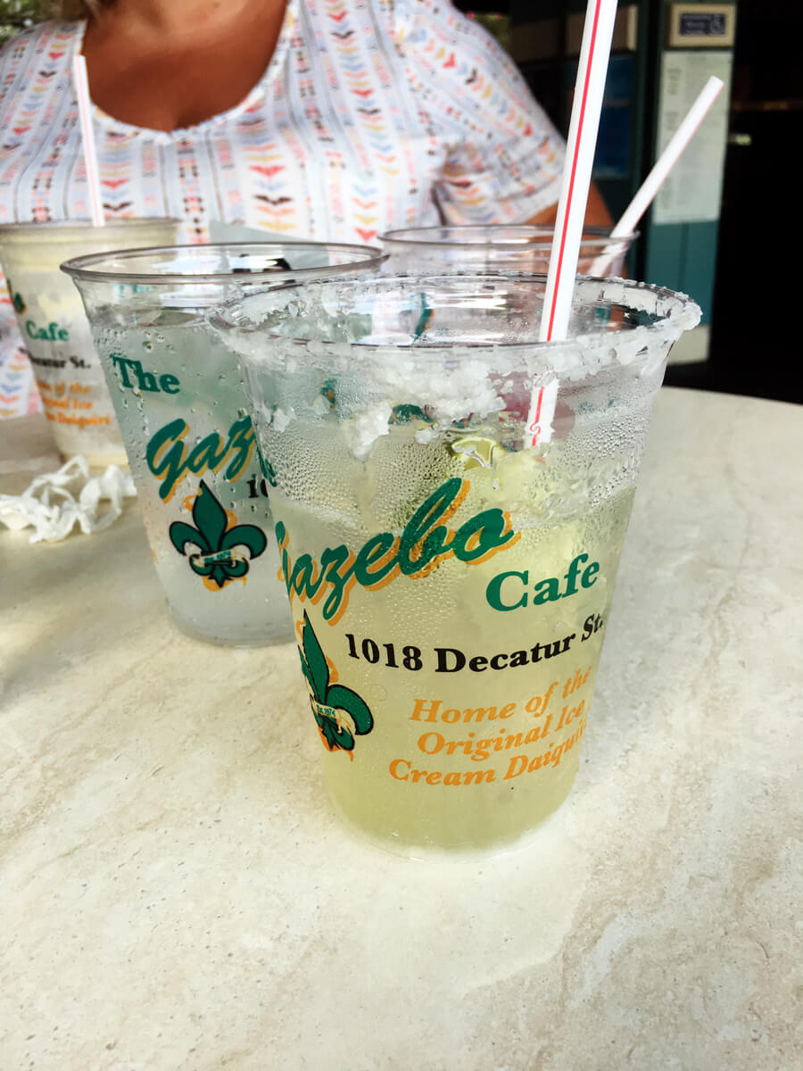 Fresh cold drinks from The Gazebo Cafe in New Orleans
