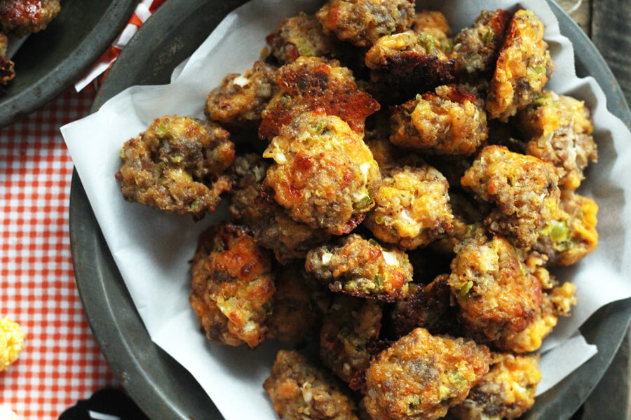 Golden and delicious Jalapeno Cheddar Sausage Balls